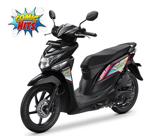 honda-beat-pop-comic-tone-black-hitam-2016