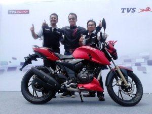 tvs apache rtr200 red merah