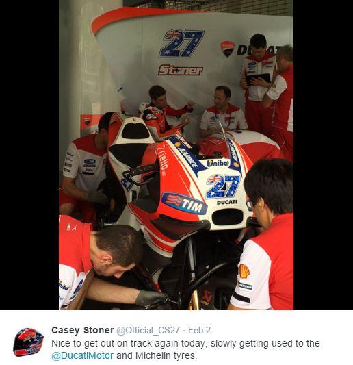 casey stoner ducati sepang test 2016 motogp
