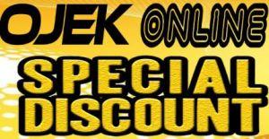 ojek online special discount