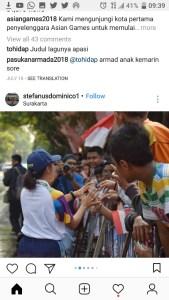 Obor Asian Games 2018 Sampai Denpasar, Hubungan Kamu Udah Sampai Mana ?