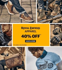 Gear dan Apparel Royal Enfield End Of Season Sale 40% Off di Store Seluruh Dunia
