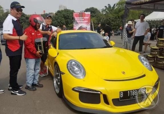 Pertamax Turbo Diuji di Porsche Motokhana Time Attack
