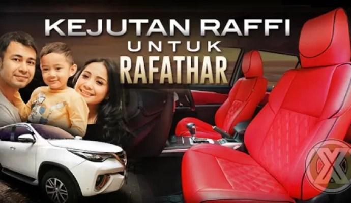 Kejutan Raffi Untuk Rafathar Pada Fortuner