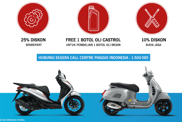 Piaggio Indonesia Adakan Program Peduli Banjir We Care