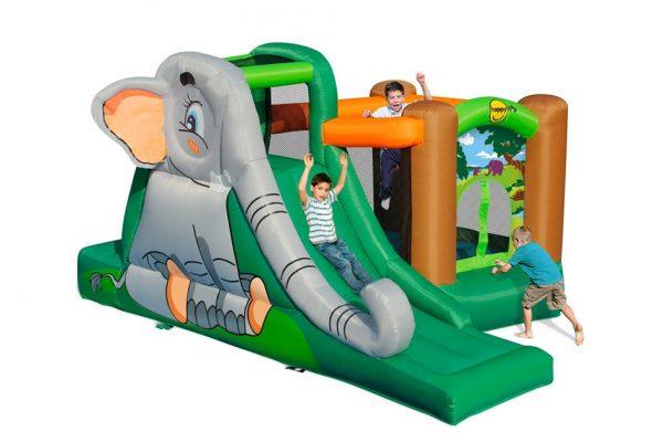 Napihljivi grad Slonček sodi med najbolj simpatična napihljiva igrala za otroke.