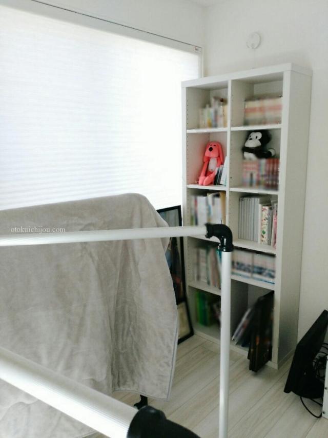 2階の書斎で部屋干し