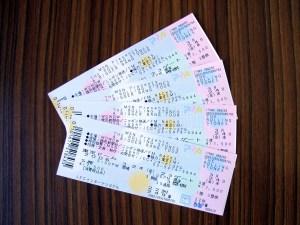 ローリングストーンズのチケットが届く。