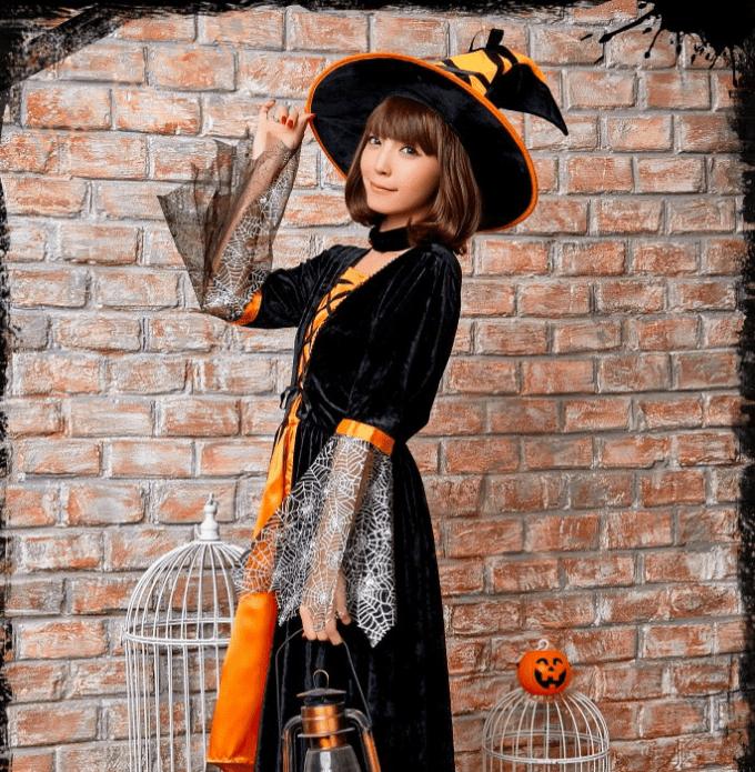 ハロウィンコスプレ halloween 可愛い 衣服 ワンピース 帽子付き チョーカー 魔法使い 大人用 かわいい