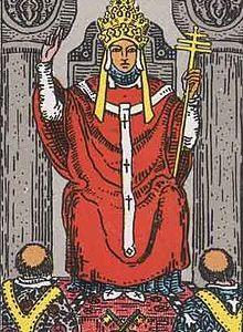 タロットカード「5:教皇-法王」の意味と解釈【恋愛・復縁・片思い占い方法】