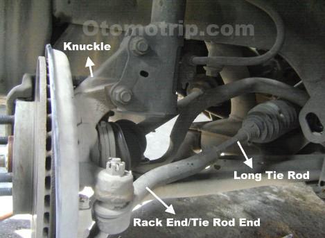 Fungsi Tie Rod dan Rack End Pada Sistem Kemudi Mobil