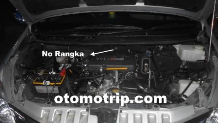 posisi nomor mesin grand new avanza malaysia gambar letak dan rangka all otomotrip atau no mobil xenia