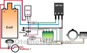 Rangkaian Pengapian Transistor Menggunakan FET IRF740  OtomoTrip