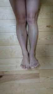 エクスレッグスリマーを履いて寝た後の画像