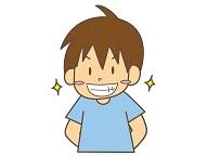 歯が綺麗で印象の良い男性のイメージ画像