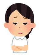 残念な表情をしている女性