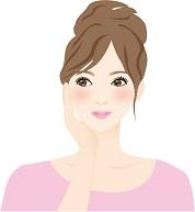 しっかりエイジングケアをして肌だけでなく心までリラックスできている女性の画像