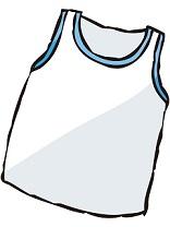 白い女性用の加圧シャツ
