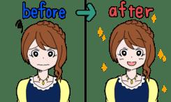 ティアティアローションを使う前と使った後での肌の変化