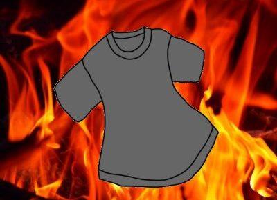 燃えるシャツのイメージ