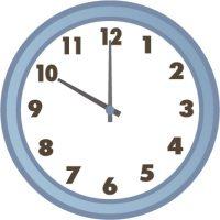22時を指している時計の画像