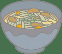 温かい蕎麦の画像