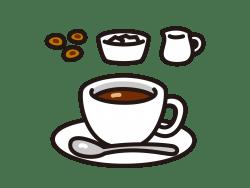 ホットコーヒーのイラスト画像