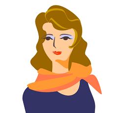 美容マニアチームの元エステティシャンであるアコのイラスト画像