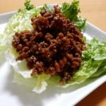 [レシピ]納豆と肉そぼろのレタス包みの作り方