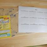 のり付きパネルを使ってオリジナルのカレンダーを手作りする方法/綺麗な貼り方も紹介するよ♪