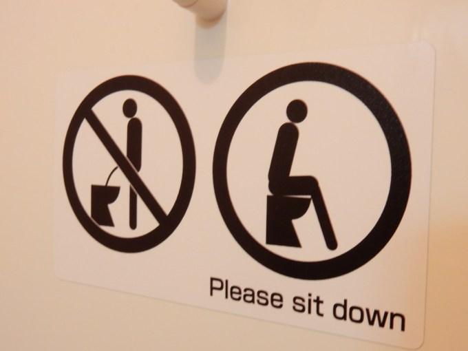 トイレマナーのステッカー5