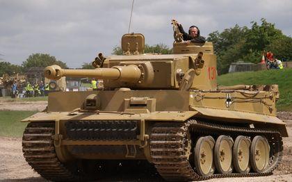 映画で使われた本物のティーガー戦車