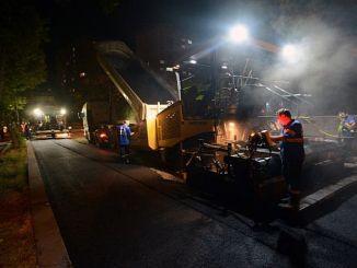ankarada asfalt ekipleri gece gunduz bayram mesaisinde