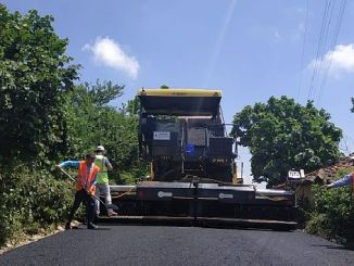 Thousand tons of asphalt is laid on the roads of Kandira Bay