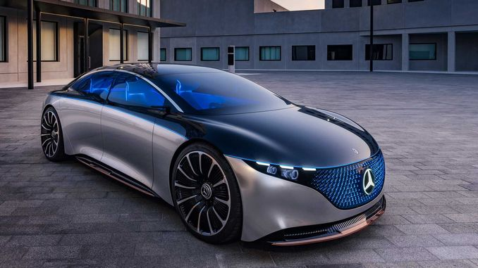 electric concept mercedes benz vision eqs 2019