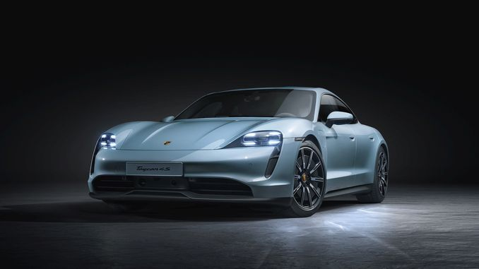 The newest member of Porschen's fully electric sports car family, the Thai 4 s.