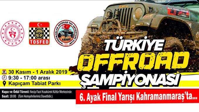 turkiye offroad sampiyonasi kahramanmarasta