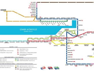 Izmir Rail Systems Network Map