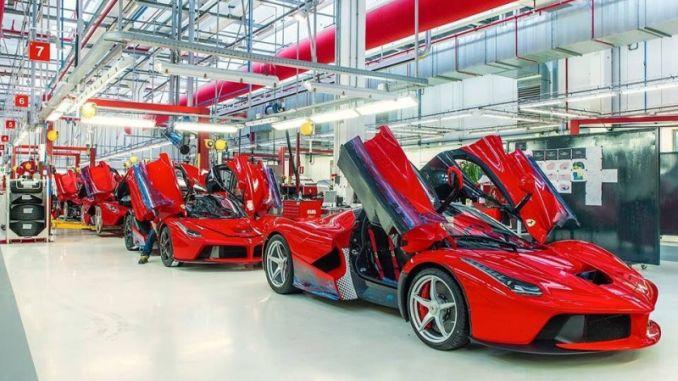 Ferrari Üretimi Durdurdu