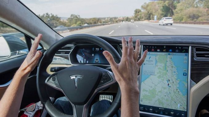 Tesla can stand on its own in red light
