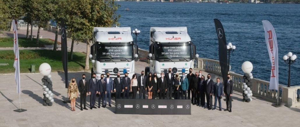 Mercedes-Benz Türk Bu Yılın En Büyük Kamyon Teslimatını Gerçekleştirdi