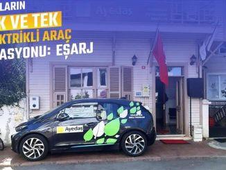 Adalar'ın İlk Elektrikli Araç Şarj İstasyonu Eşarj Oldu