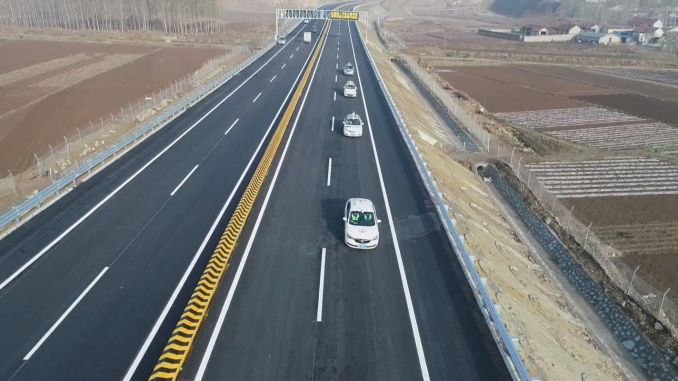 Talking to gin with unmanned cars, smart highway trials