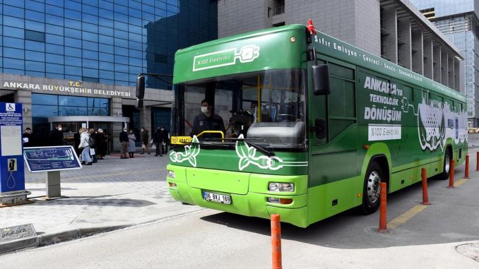 ego bus en Ankara se transforma en bus eléctrico