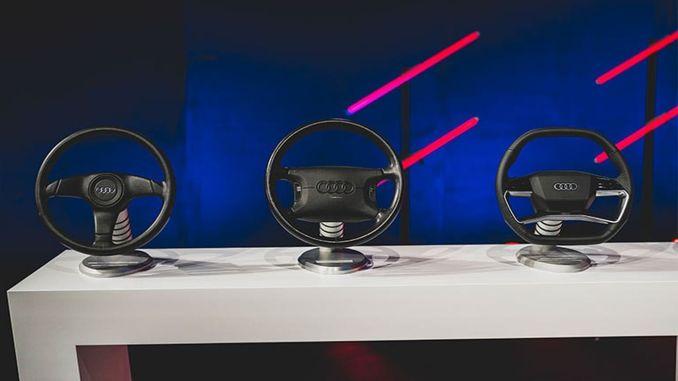 development of more than generation model audi steering wheels