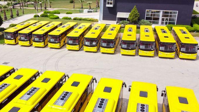 Entrega de autobuses grandes desde temsa al centro de europa