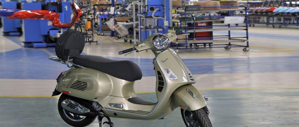 vespa每年生產數百萬輛踏板車
