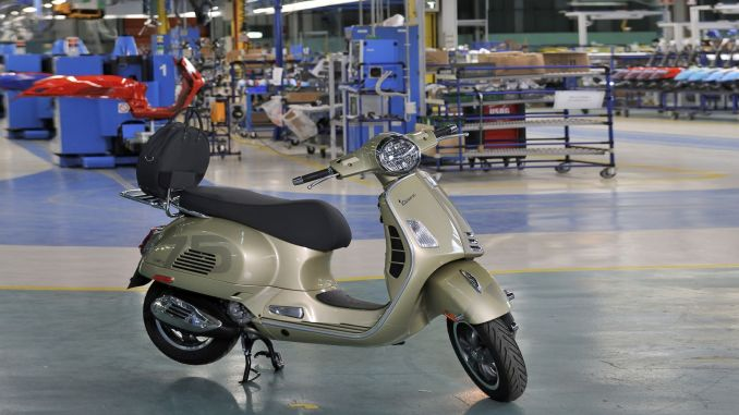 vespa produced million scooters a year