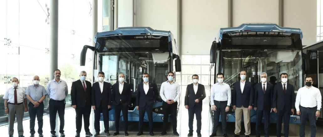 Turkey's first domestic electric bus got off the band