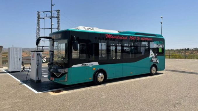 Karsan Atak Electric was the first electric bus to be tested between Barcelona and Madrid.